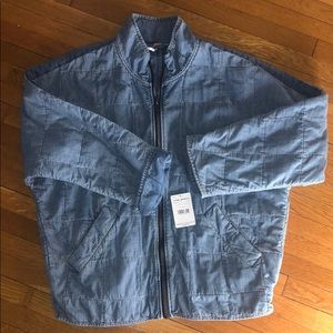 NEW Free People Denim quilted Jacket